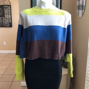 CURRENT AIR SMALL CROP TOP SWEATER